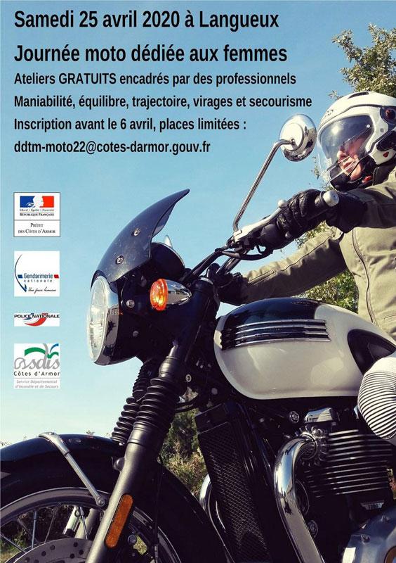 Journée Moto Femme 25 Avril 2020 à Langueux